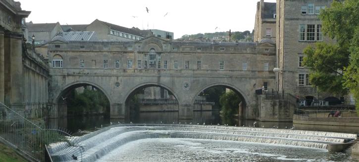 A Riverside view of Pulteney Bridge