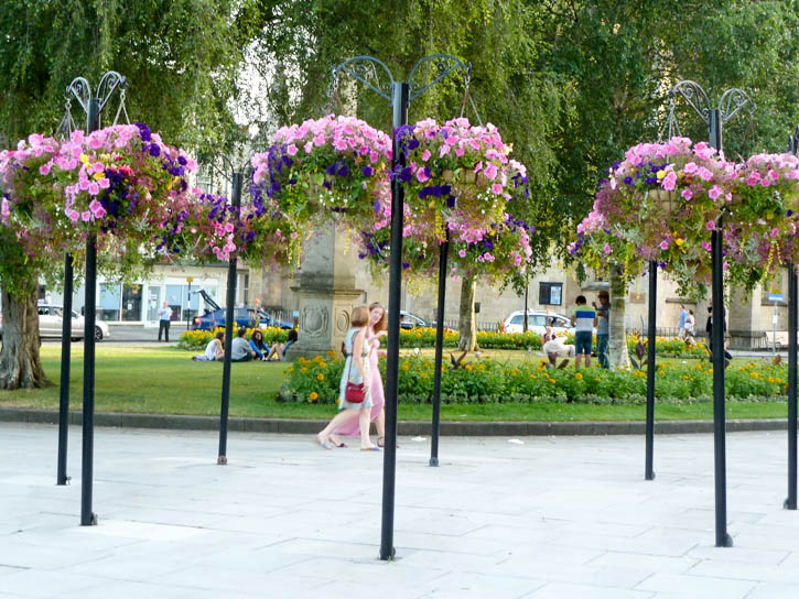 Flowers in Bath City Centre