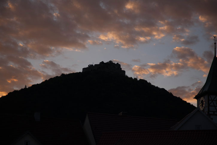 Neuffen Castle at sunrise. I have been told reliably that the view of the sunrise from Neuffen Castle is better than the sunset.