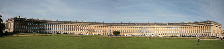 A panoramic view of the Royal Crescent