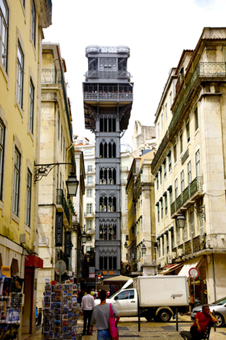 The Santa Justa Elevator was first used in 1902. It rises 45 metres and the design was inspired by the Eiffel Tower. This is one of the many historic highlights of Lisbon.