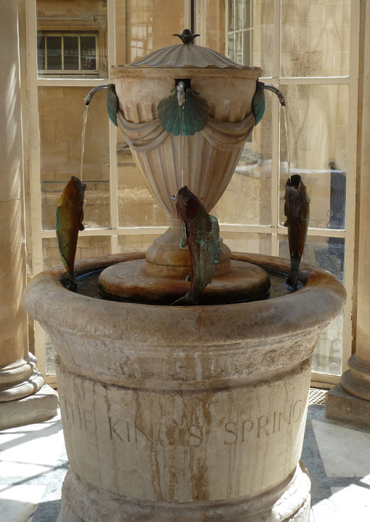 Mineral Water Fountain in the Pump Room in the City of Bath