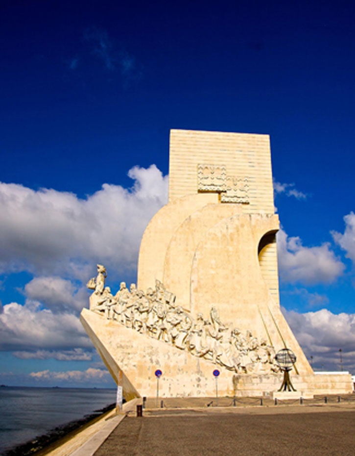 Discoveries Monument to honour Prince Henry the Navigator who initiated the successful Portuguese explorations during the 15th Century in Lisbon.