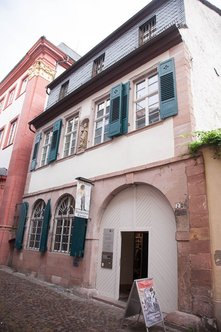 An inconspicuous building in one of the lanes of Heidelberg with surprising interiors – The Student Prison.