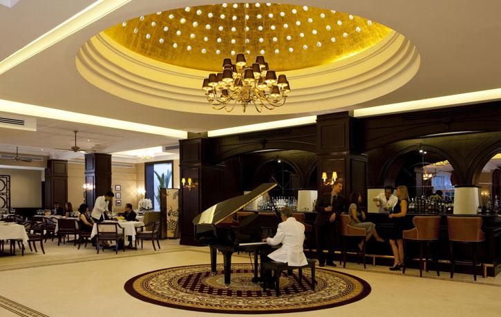The splendid bar of the Majestic Hotel Kuala Lumpur restored to its former glory - Courtesy of YTL Hotels