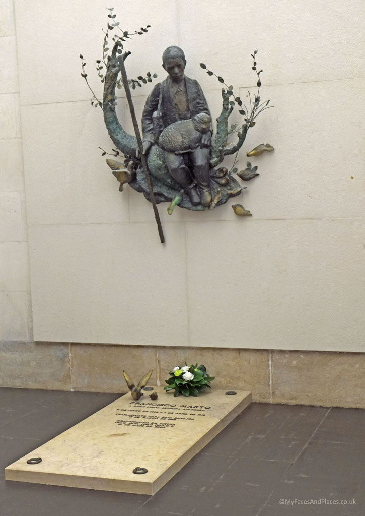 Tomb of Francisco Marto at the Basilica of Our Lady of the Rosary of Fatima