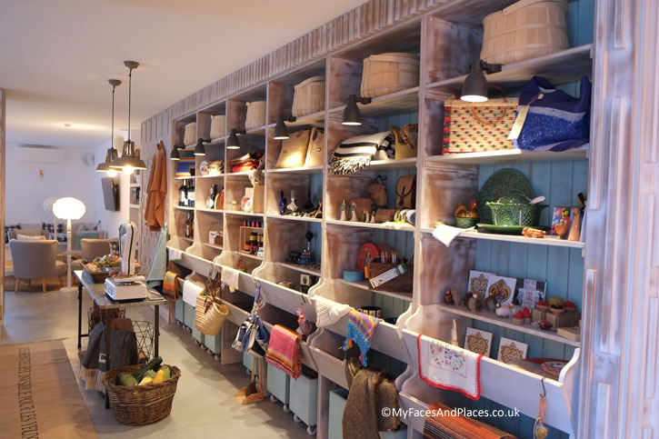 The hotel boutique designed like a typical traditional village shop.