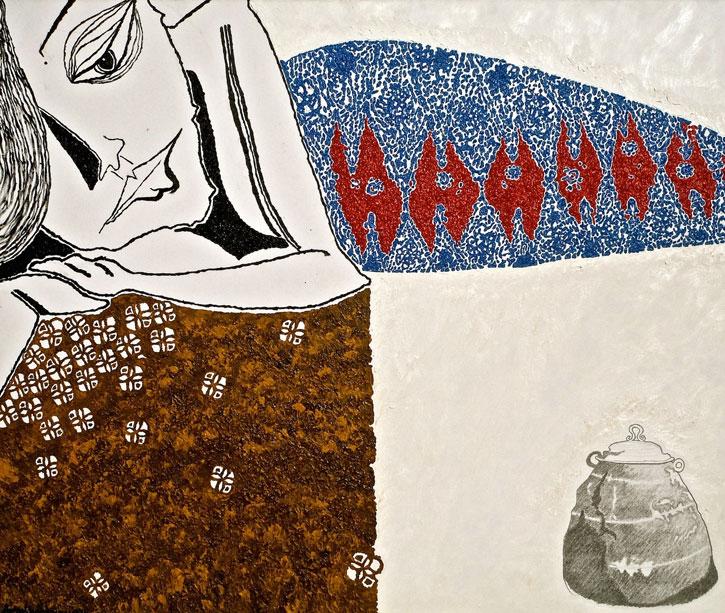 Periuk Nasik Leha - A painting by Anisa Mandahiling