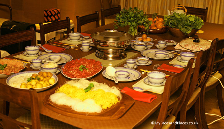 The spread of dishes for the Chinese New Year Celebrations for the family and friends.