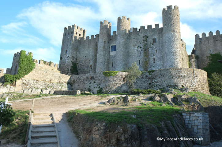 The castle in the town of Obidos