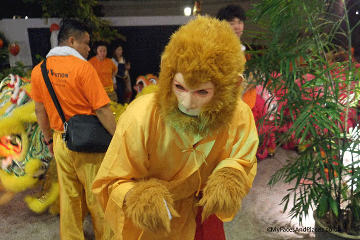 The year 2016 is of the fire Monkey. The Monkey is preparing himself for the festivities at Chris and Jennifer's Chinese New Year Celebration party.