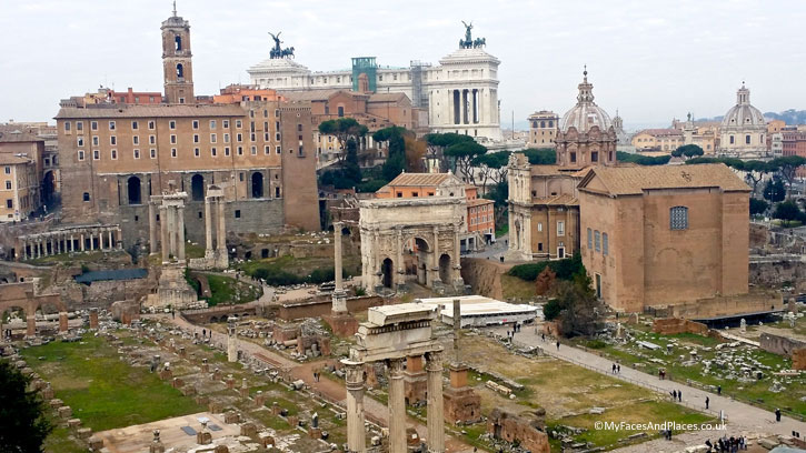 The Roman Forum in Rome (A Roman Holiday)