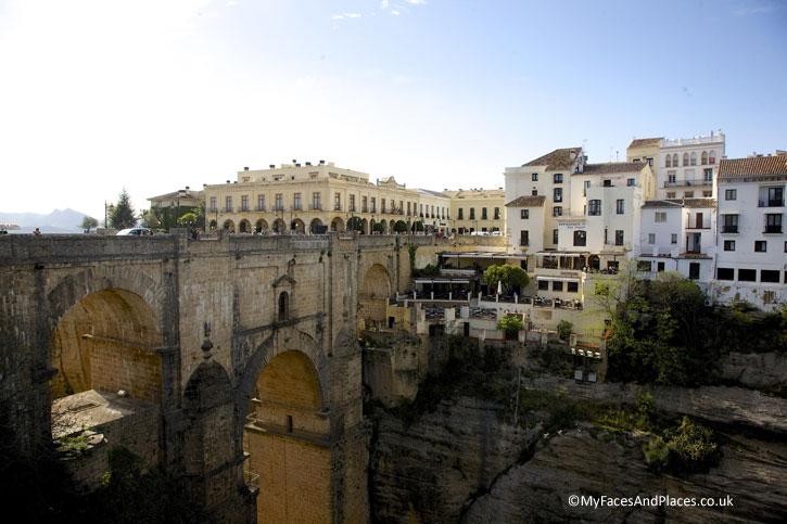 The Puente Nuevo spanning over the dramatic chasm of Ronda.