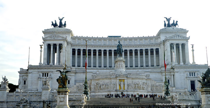 The Victor Emmanuel II Monument in Rome (A Roman Holiday)