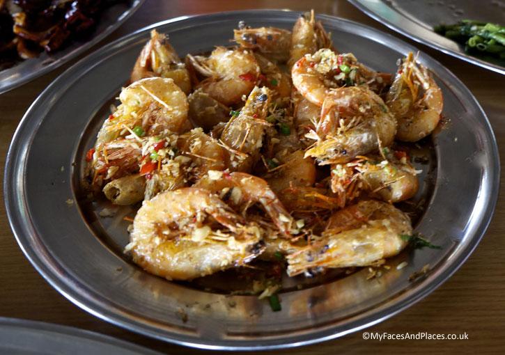 Sea salt crispy prawns served in Lim Hock Ann Seafood Restaurant