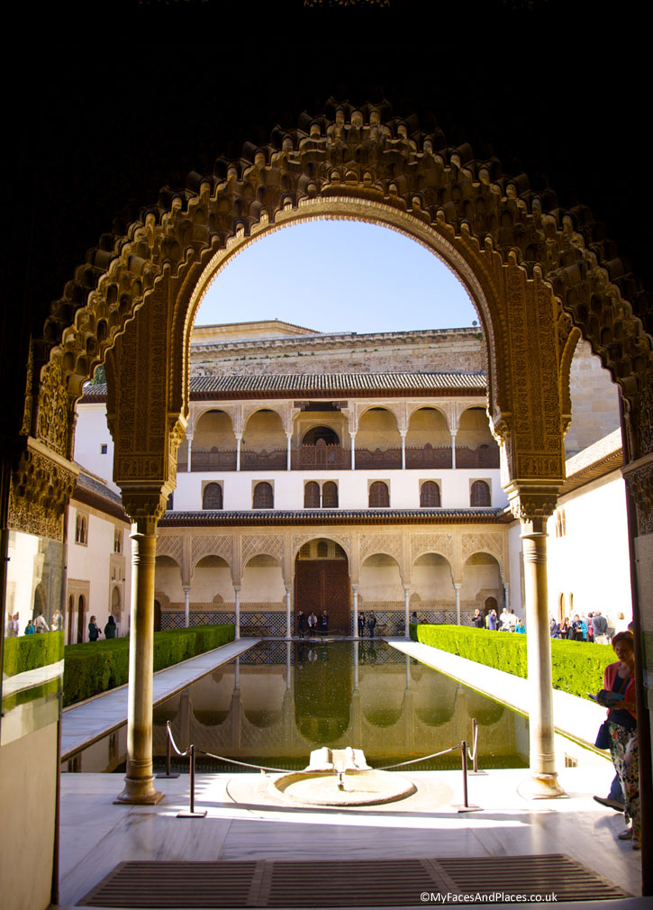 The reflecting pool at the Alhambra in Granada