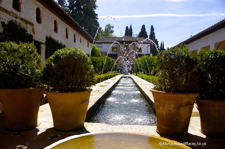 The lovely Generalife Gardens of Architect in Granada