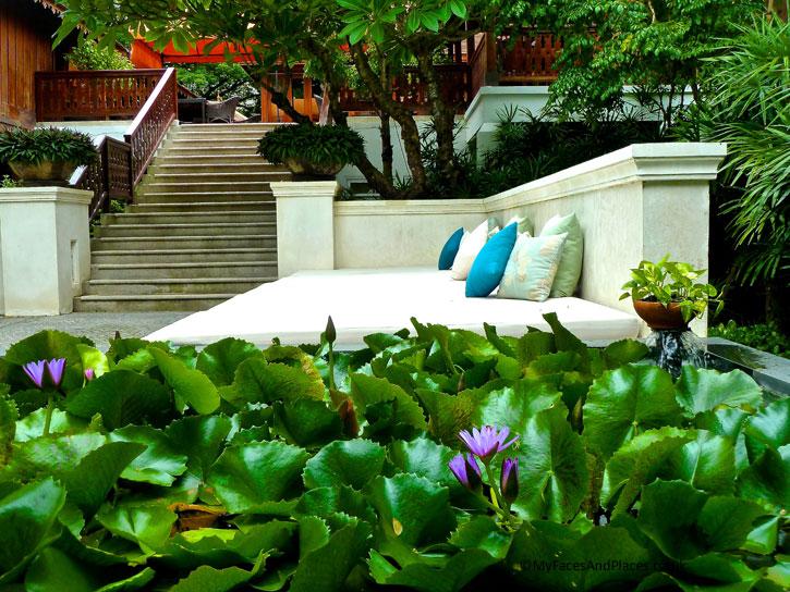 A delightful setting in the garden in 137 Pillars House