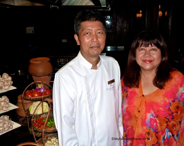 Chef Thiti Thammanatr and Helen in 137 Pillars House