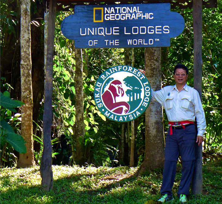 Albert Teo at Sukau Rainforest Lodge, a charter member of the National Geographic Unique Lodges of the World