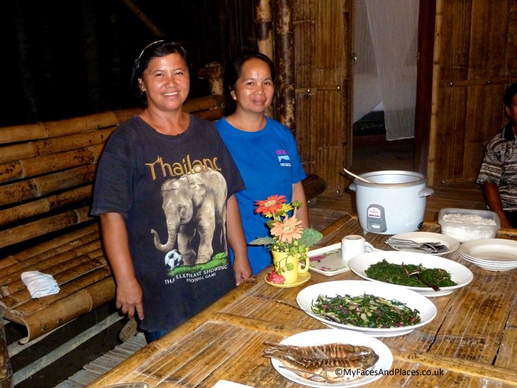 Our amazing cooks Helena and Nuria at Fig Tree Farmstay. Albert Teo - A Man With A Green Mission
