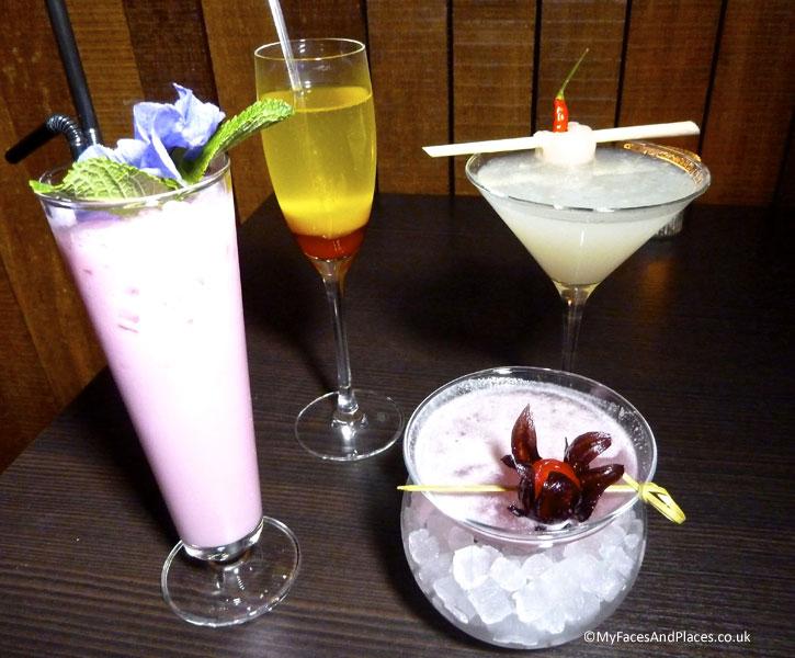 Exotic cocktails - Ladyboys and Mango Tree Restaurant