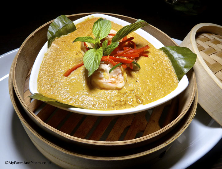 Steamed seafood curry mousse - Ladyboys and Mango Tree Restaurant