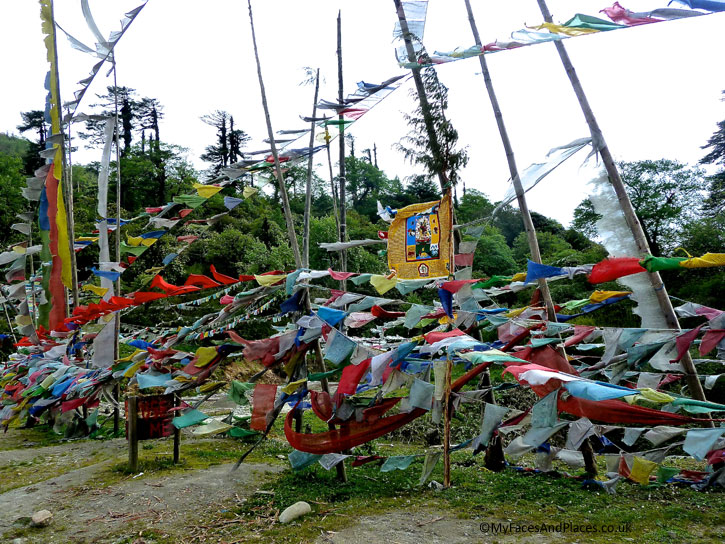 Prayer flags are erected everywhere to send prayers to heaven when the wind blows - Bhutan the Beautiful