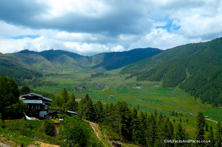 The stunning valley of Phobjikha, the winter roost of the black-necked cranes - Bhutan the Beautiful