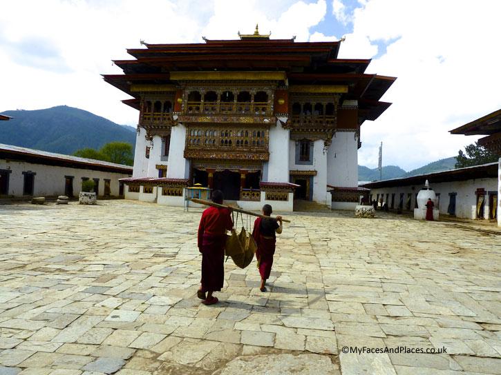 The ancient Gangtey Monastery in Phobjikha - Bhutan the Beautiful