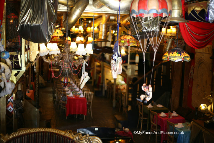 Theatrical paraphernalia galore- sarastro restaurant