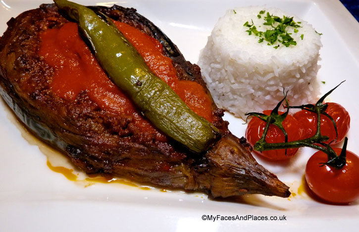 Karniyarik is when aubergine meets minced beef and lamb, expect a dance of delight in your mouth - sarastro restaurant