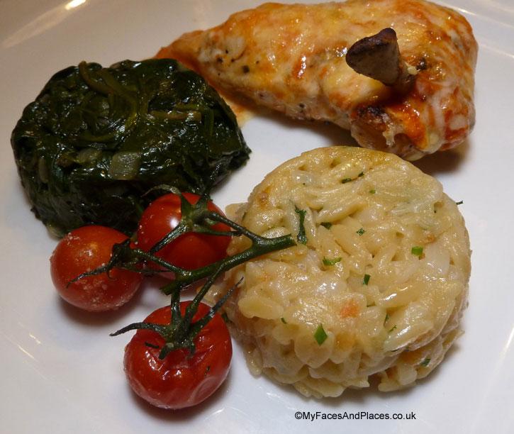 Chicken Mediterranean with succulent chicken breast -sarastro restaurant
