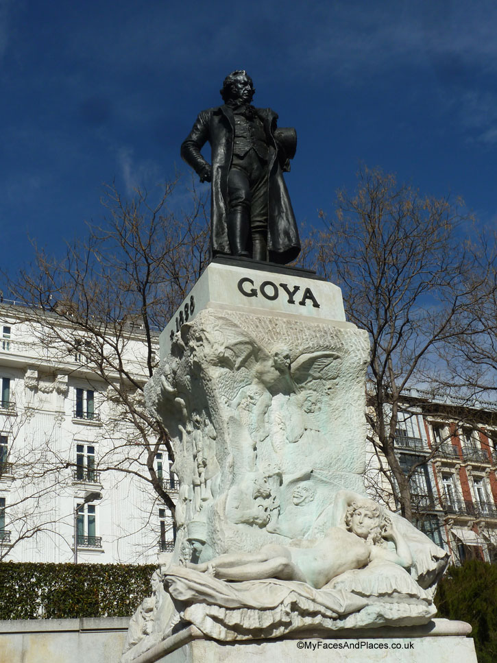 Goya standing proudly outside the Prado Museum