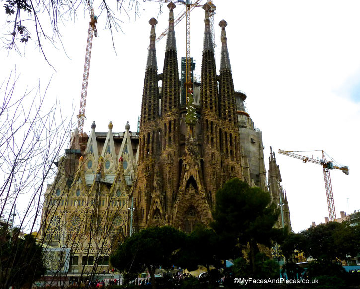 Gaudi's magnum opus Sagrada Familia Church of the Holy Family in Barcelona, Spain