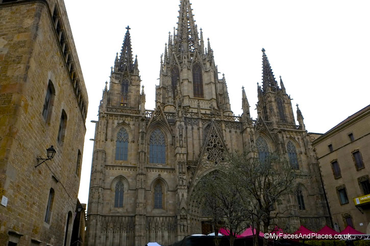 Cathedral of Holy Cross and Saint Eulalia in Barcelona, Spain