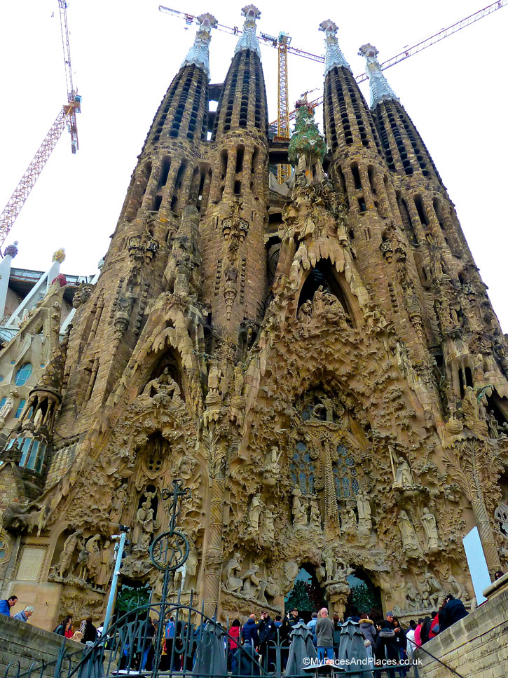Gaudi's Sagrada Familia due to be completed in 2026 in Barcelona, Spain