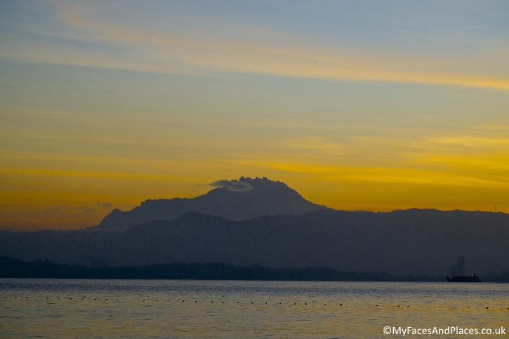 The majestic Mount Kinabalu in all its glory at dawn - in Sabah