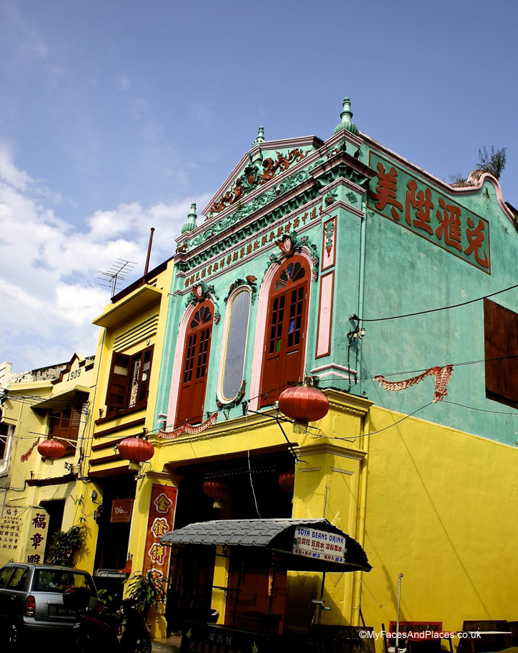 Beautiful Peranakan heritage building in Malacca