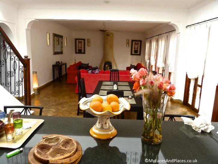 Gorgeous open-plan living room-cum-kitchen in our villa