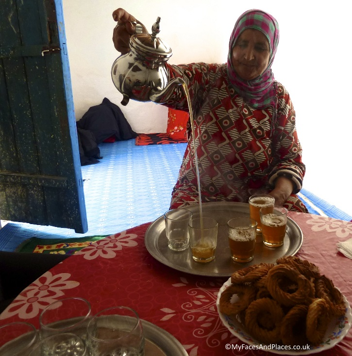 Our wonderful Berber hostess with the mostest and a great cook