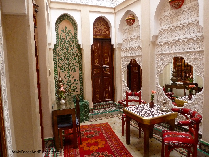 The gorgeous interior of the Riad Hikaya