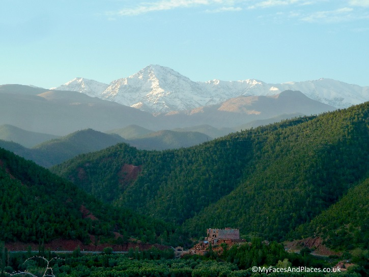 The glorious High Atlas Mountain in perspective