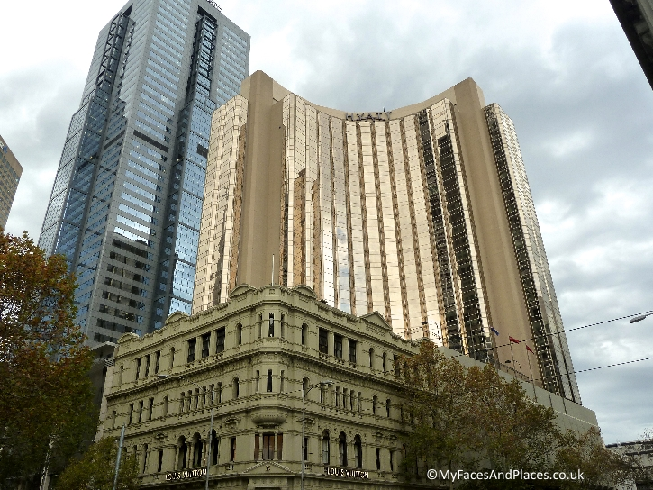 Modern buildings sprouting up among heritage buildings in Melbourne's Central Business District