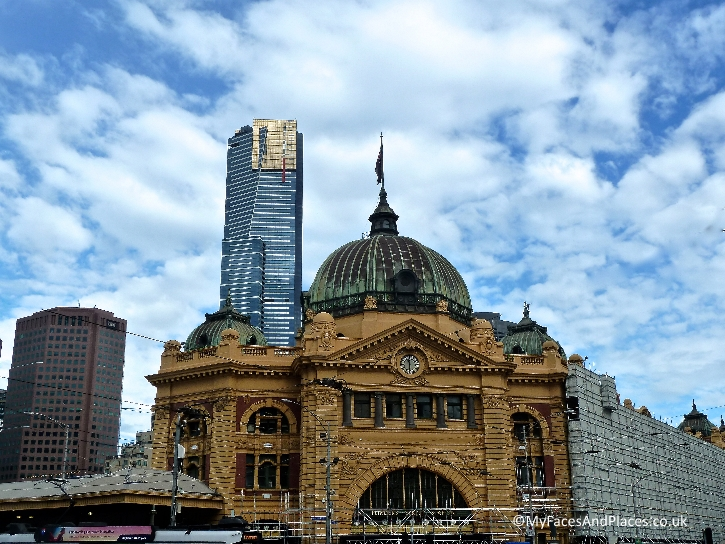 The beautiful heritage building of Flinders Station