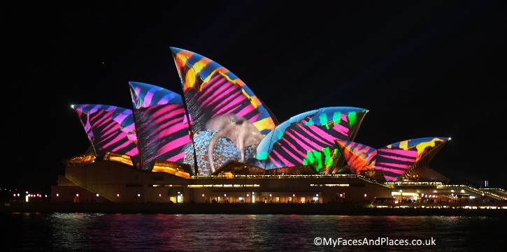 Sydney Stopover - The spectacular light installation on Sydney Opera House during Vivid Sydney