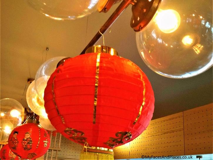 Red lanterns are auspicious symbols for good luck