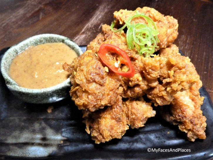 Malaysian style crispy fried chicken with peanut sauce at Sambal Shiok Laksa Bar