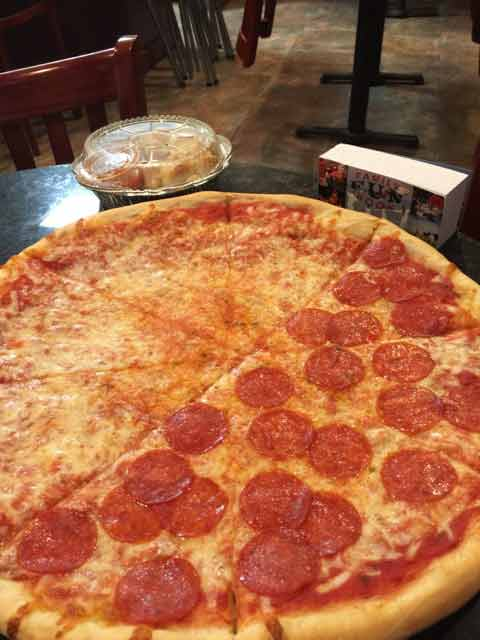 Gabbie's Pizza food recived with coupon deal in The Family Fun Book - Port Orange Florida
