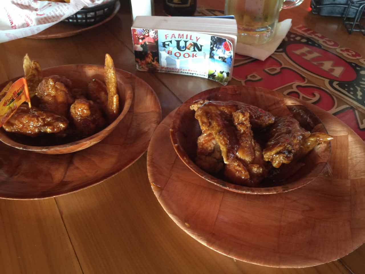 Winghouse food recived with coupon in The Family Fun Book - Daytona Beach Florida